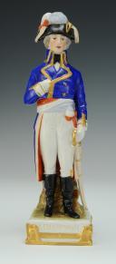 KELLERMANN GÉNÉRAL, RÉVOLUTION : figurine en porcelaine de Courille à Paris, XXème siècle.
