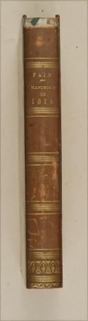 Photo 1 : FAIN. Manuscrit de 1814. Paris, Bossange, 1824, in-8, demi-rel. bas.