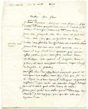 Photo 1 : LETTRE DU SOLDAT SERGENT, datée de Josselin le 21 avril 1808, À SON FRÈRE demeurant à Unverre (Eure-et-Loire).
