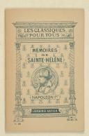 PEYRE (Roger) – Napoléon Ier – Mémoires de Sainte-Hélène