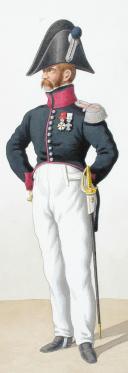 Photo 2 : 1820. Chasseurs à Cheval. Trompette (17e Régiment - des Pyrénées), Capitaine en Second (13e Régiment - de la Meuse).