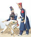 Photo 2 : 1822. Génie. Capitaine Adjudant-Major, Sergent-Major de Mineurs.