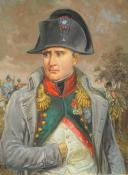 Photo 2 : LELIEPVRE EUGÈNE : Portrait de l'Empereur Napoléon 1er en redingote, huile sur toile, Fin XXème siècle.
