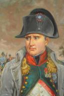 Photo 3 : LELIEPVRE EUGÈNE : Portrait de l'Empereur Napoléon 1er en redingote, huile sur toile, Fin XXème siècle.