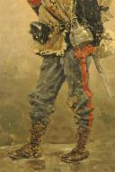 Photo 4 : EUGÈNE COURBOIN, GARDE NATIONAL MOBILE PENDANT LA GUERRE FRANCO-PRUSSIENNE, HUILE SUR TOILE, 1890.