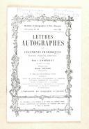MAISON J.E & CHARAVAY Lettres autographes et documents historiques