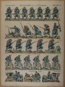 """PELLERIN - """" Infanterie à l'Attaque """" - Imagerie d'Épinal - n° 177"""
