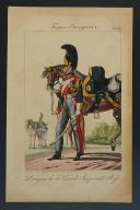 Photo 1 : MARTINET : TROUPES ÉTRANGÈRES, PLANCHE N° 43, DRAGON GARDE IMPÉRIALE RUSSE, PREMIER EMPIRE.