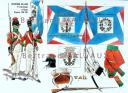 RIGO (ALBERT RIGONDAUD) : LE PLUMET PLANCHE 216 : INFANTERIE DE LIGNE 9e DEMI-BRIGADE EN EGYPTE DRAPEAUX 1800-1801.