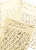 3 LETTRES DE BERNARD FERRAN, CAPITAINE DE GRENADIERS, À SA MÈRE ET À SA SOEUR, 1806-1807.