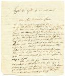 2 LETTRES DE ANDRÉ CÉCILLON, canonnier dans la 15ème compagnie du 1er régiment d'artillerie à pied, à MONSIEUR DE CHABON, demeurant à la Tour du Pin (Isère), datée Isle de Cazen le 14 janvier 1808 et de l'hôpital de Gand le 20 avril 1808.