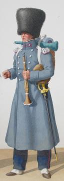 Photo 2 : 1830. Garde Royale. Infanterie (4e Régiment). Sergent-Fourrier de Fusiliers, Musicien.