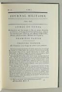Photo 3 : JOURNAL MILITAIRE JUIN 1806. ARMÉE DE TERRE.