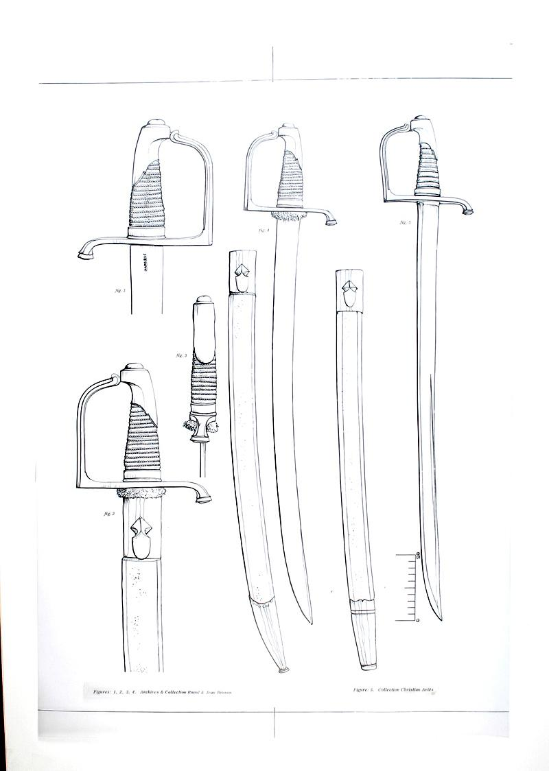 Sabre briquet de l 39 infanterie de la vieille garde imp riale consulat premier empire planche - Dessin de sabre ...