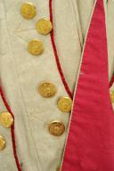 UNIFORME ET BONNET DE POLICE DE CAPITAINE EN SECOND DE COLONEL GÉNÉRAL, RÈGLEMENT DE 1786, ANCIENNE MONARCHIE, RÈGNE DE LOUIS XVI, VERS 1786-1789. (13)