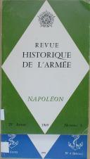 """JOUIN - """" Revue historique de l'armée Napoléon """" - Périodique trimestrielle - Nouvelle série - Lot de 2 Numéros - 25ème année - Paris - 1969"""