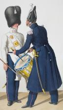 Photo 1 : 1830. Garde Royale. Infanterie (5e Régiment). Caporal-Tambour, Tambour de Fusiliers, Tambour-Major