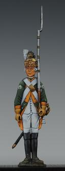 """Photo 1 : FIGURINE DEMI-RONDE BOSSE DRAGON 1786 DU RÉGIMENT """"SEGUR""""."""