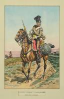 Photo 1 : BENIGNI PIERRE, CHEVAU-LÉGER du duché de Berg du temps de Murat (1807 - 1808), Campagne d'Espagne 1808 en tenue de campagne : Gouache originale, Premier Empire.