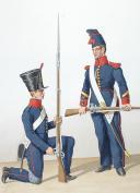 Photo 2 : 1830. Infanterie de Ligne.  Fusiliers, Sergent de Fusiliers