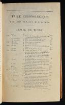 Photo 2 : TABLE CHRONOLOGIQUE DES LOIS PÉNALES MILITAIRES : LE GUIDE DES JUGES MILITAIRES 1790 -1810
