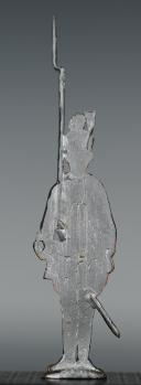 """Photo 2 : FIGURINE DEMI-RONDE BOSSE DRAGON 1786 DU RÉGIMENT """"SEGUR""""."""