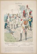 "R. KNÔTEL -  "" Italien - Das Italienische Heer unter Vice-König Eugen 1812  "" - Gravure - n° 25"