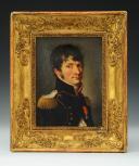 BOILLY Louis-Léopold : HUILE SUR TOILE PORTRAIT DU MAJOR DU GÉNIE ÉTIENNE-LOUIS MALUS, Premier Empire, vers 1810.