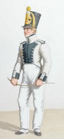 1820. Légions Départentales. Fusilier Dépôt (28e Légion - du Gard), Fusilier 3e Bataillon (77e Légion - de la Somme). (2)