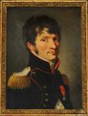 Photo 2 : BOILLY Louis-Léopold : HUILE SUR TOILE PORTRAIT DU MAJOR DU GÉNIE ÉTIENNE-LOUIS MALUS, PREMIER EMPIRE, VERS 1810.