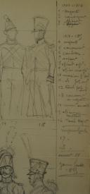 Photo 3 : ROUSSELOT LUCIEN, INFANTERIE ET TAMBOURS FRANÇAIS PREMIER EMPIRE : dessin au crayon, 20ème siècle.