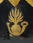 Photo 3 : BONNET DE POLICE TROUPE DE VOLTIGEURS DE LA GARDE IMPÉRIALE, premier modèle 1854, Second Empire.