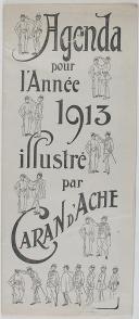 Photo 1 : AGENDA POUR L'ANNÉE 1913 ILLUSTRÉ PAR CARAN D'ACHE