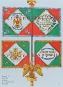 RIGO (ALBERT RIGONDAUD) : LE PLUMET PLANCHE D11 : DRAPEAUX ÉTENDARDS ROYAUME D'ITALIE (III) GARDE ROYALE 1805-1814