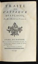 Photo 3 : TRAITÉ DE L'ATTAQUE DES PLACES PAR M. LE MARÉCHAL DE VAUBAN 1779. DEUX TOMES