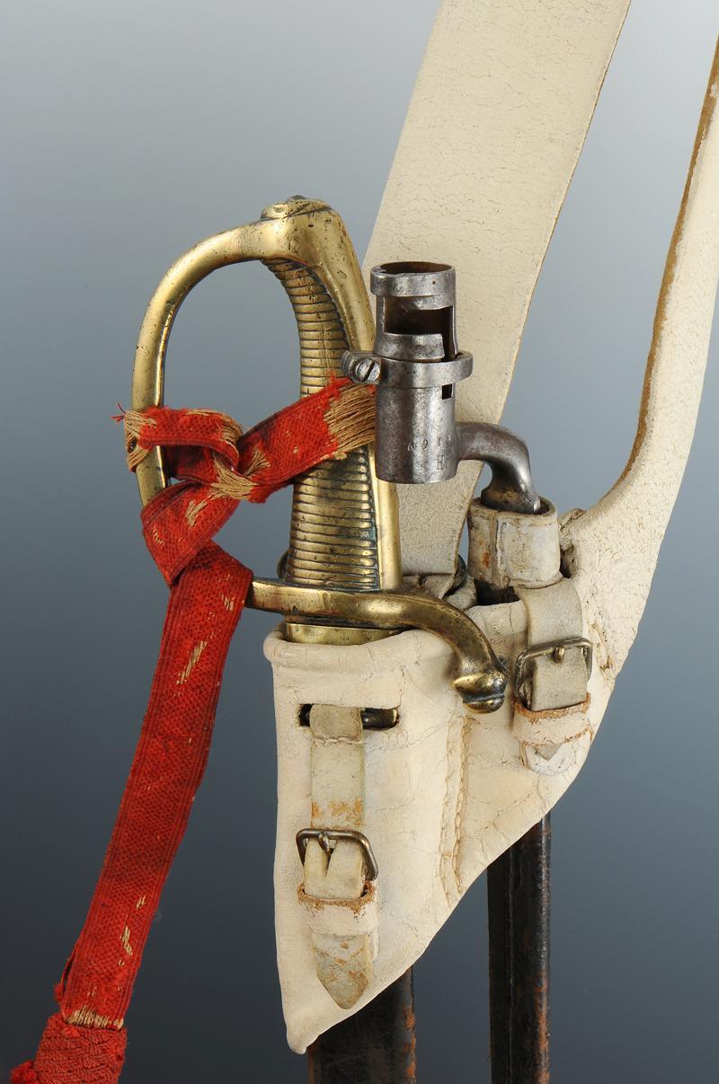 Baudrier sabre briquet avec dragonne et ba onnette douille premier empire - Dessin de sabre ...