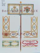 RIGO (ALBERT RIGONDAUD) : LE PLUMET PLANCHE D10 : DRAPEAUX ÉTENDARDS ROYAUME DE SAXE (III) 1811-1813
