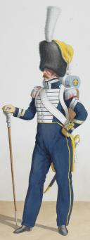 Photo 2 : 1830. Garde Royale. Infanterie (6e Régiment). chef de Musique. Caporal-Tambour.