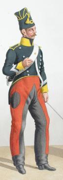 Photo 2 : 1822. Chasseurs à Cheval. Maréchal des Logis. Maréchal des Logis-Chef (7e Régiment - de la Corrèze).