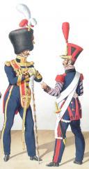 Photo 2 : 1824. Génie. Tambour de Sapeurs, Tambour-Major, Tambour de Mineurs.