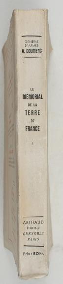 Photo 2 : Gl DOUMENC – Le Mémorial de la Terre de France – contribution à l'histoire militaire de nos provinces