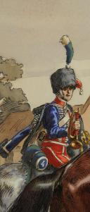 Photo 3 : VICTOR HUEN, AQUARELLE D'UN GARDE D'HONNEUR DU 2eme REGIMENT ET TROMPETTE DU 4eme REGIMENT DES GARDES D'HONNEUR.
