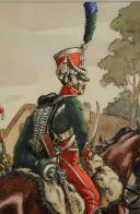 Photo 4 : VICTOR HUEN, AQUARELLE D'UN GARDE D'HONNEUR DU 2eme REGIMENT ET TROMPETTE DU 4eme REGIMENT DES GARDES D'HONNEUR.