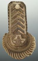Paire d'épaulettes d'intendant général, modèle 1921, Troisième République, ayant appartenue à Eugène SEURAT. (7)