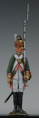 """Photo 1 : FIGURINE DEMI-RONDE BOSSE DRAGON 1786 DU RÉGIMENT """"ORLÉANS""""."""