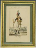 MARTINET : Troupes françaises, planche 176, tambour major des Grenadiers à pied de la Garde Impériale, Premier Empire.