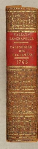 Photo 2 : VALLAT-LA-CHAPELLE. Calendrier des règlements ou notices des édits, déclarations.