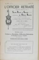 """Photo 2 : """" L'Officier Retraité """" - Bulletin mensuel - Numéro 1 - Bruxelle - Janvier 1953"""