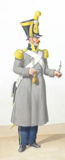 Photo 2 : 1822. Infanterie Légère. Voltigeur, Sous-Lieutenant de Carabiniers.