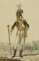 Photo 2 : MARTINET : Troupes françaises, planche 176, tambour major des Grenadiers à pied de la Garde Impériale, Premier Empire.